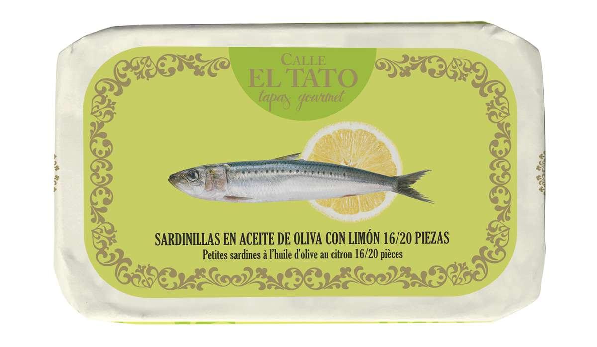 Sardillinas, petites sardines à l'huile d'olive et au citron, Calle El Tato (81 g)
