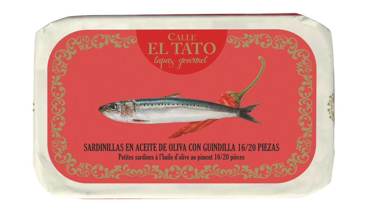 Sardillinas, petites sardines à l'huile d'olive et au piment, Calle El Tato (81 g)