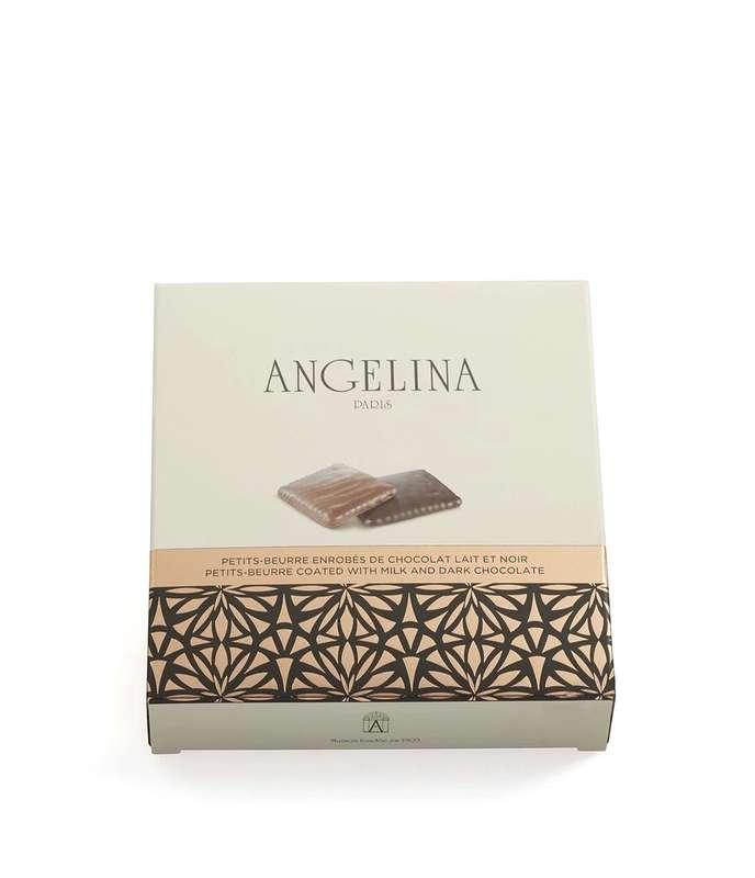 Petits-beurre enrobés de chocolat lait et noir, Angelina (90 g)