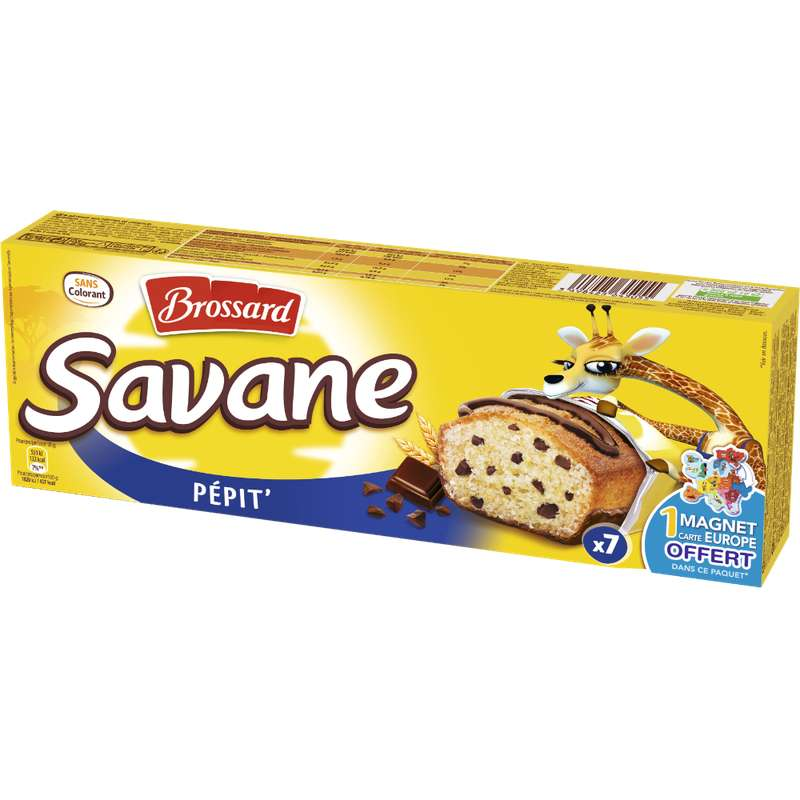 Mini Savane aux pépites de chocolat, Brossard (210 g)