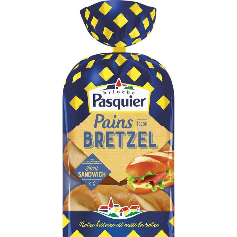Petits pains spéciaux salés façon bretzel, Pasquier (x 6, 270 g)