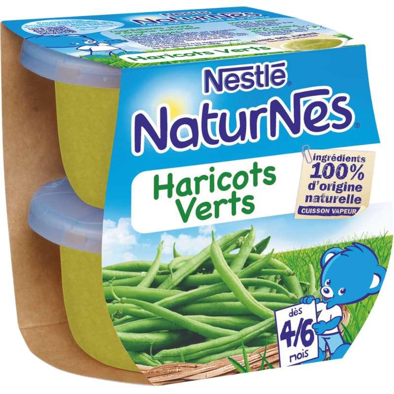 Haricots verts - dès 4/6 mois, Naturnes Nestlé (2 x 130 g)