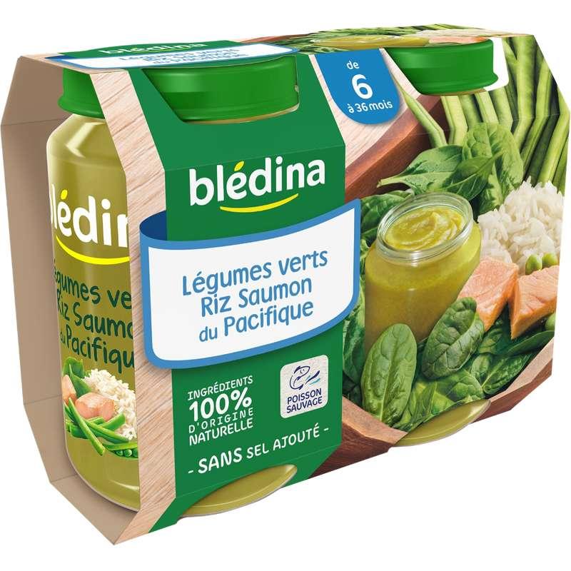 Petit pot légumes verts, riz, saumon du Pacifique - dès 6 mois, Blédina (2 x 200 g)