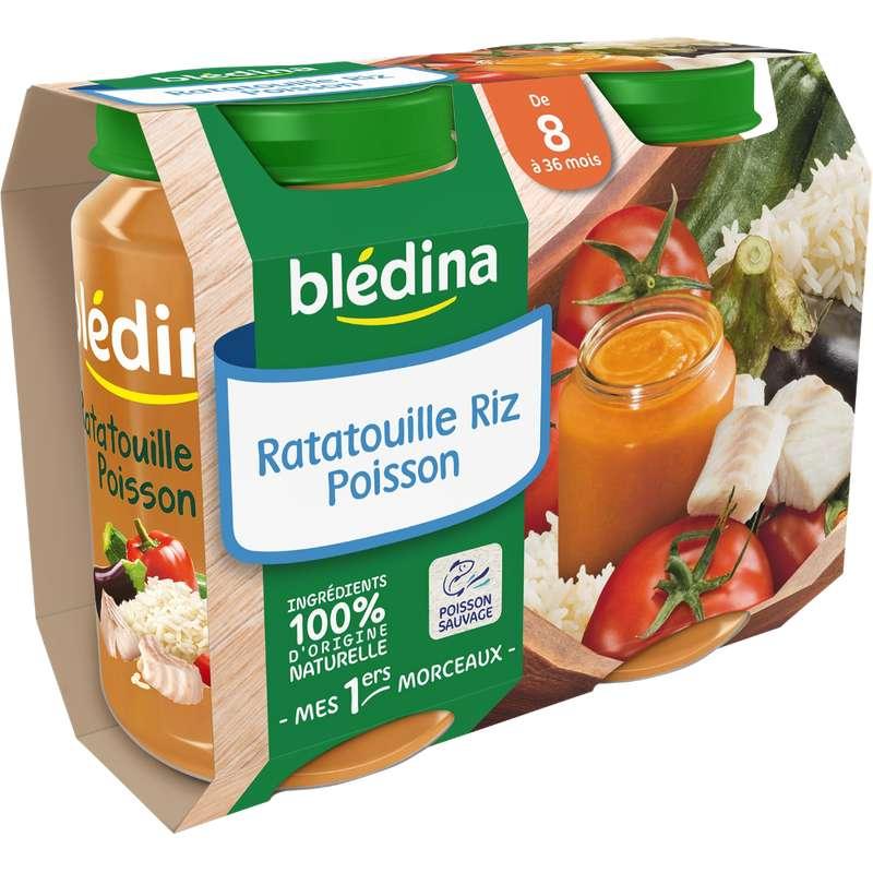 Petit pot ratatouille, riz, poisson - dès 8 mois, Blédina (2 x 200 g)