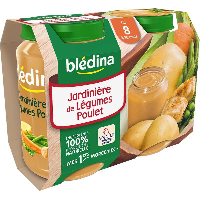 Petit pot jardinière de légumes, poulet - dès 8 mois, Blédina (2 x 200 g)