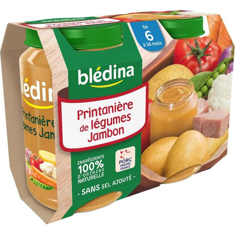 Petit pot printanière de légumes, jambon - dès 6 mois, Blédina (2 x 200 g)