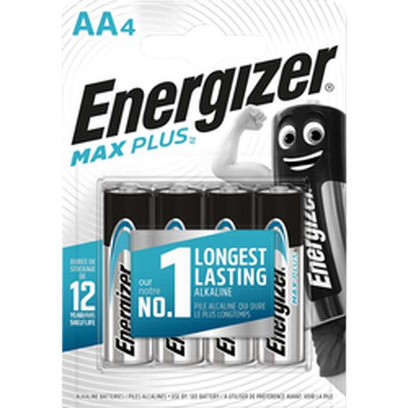 Piles AA/LR6 Max Plus, Energizer (x 4)