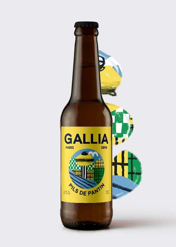 Pils de Pantin bière blonde 4,7%, Gallia (33 cl)