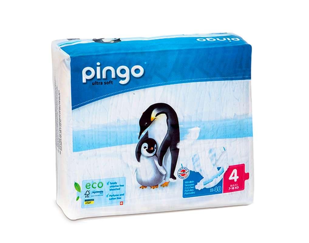 Couches écologiques T4 maxi / 7-18 kg, Pingo (40 couches)