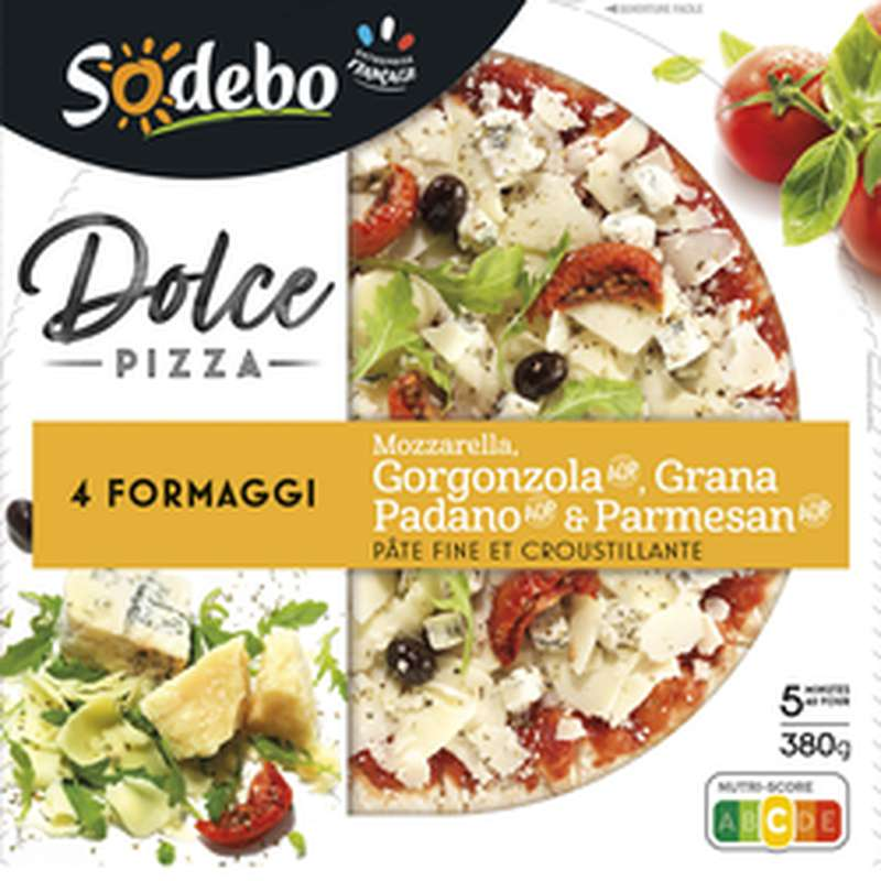 "Pizza ""Dolce"" 4 fromages, Sodebo (380 g)"