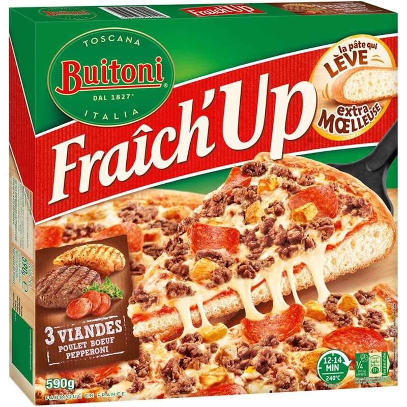 Pizza Fraich'up Supreme 3 Viandes, Buitoni (590 g)