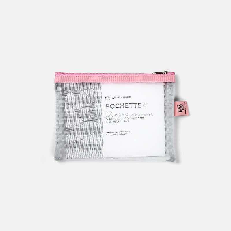 Pochette Mesh S Blanche Bubblegum, Papier Tigre