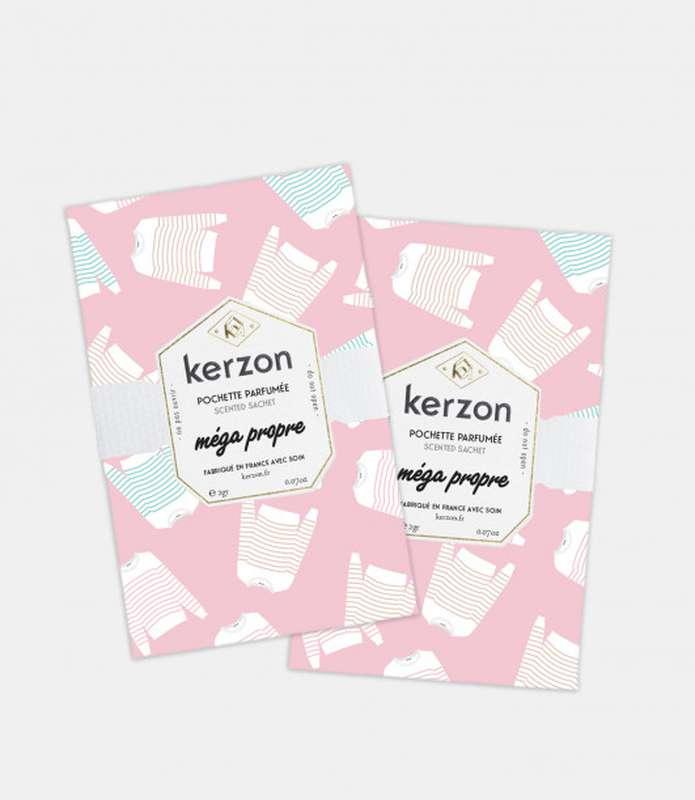 Pochette parfumées Méga Propre, Kerzon (x 2, 2 g)