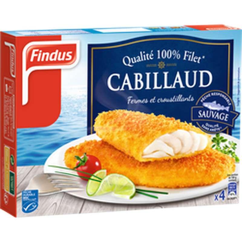 Poisson pané filets de Cabillaud, Findus (x 4, 400 g)
