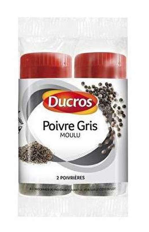 Poivre gris moulu, Ducros (2 x 18 g)