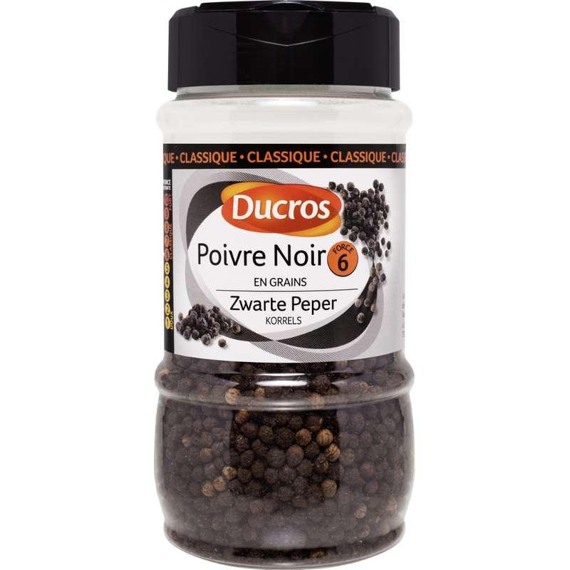 Poivre noir en grains classique n°6, Ducros (200 g)