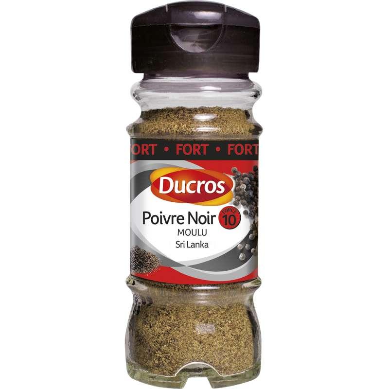 Poivre noir moulu du Sri Lanka n°10, Ducros (42 g)