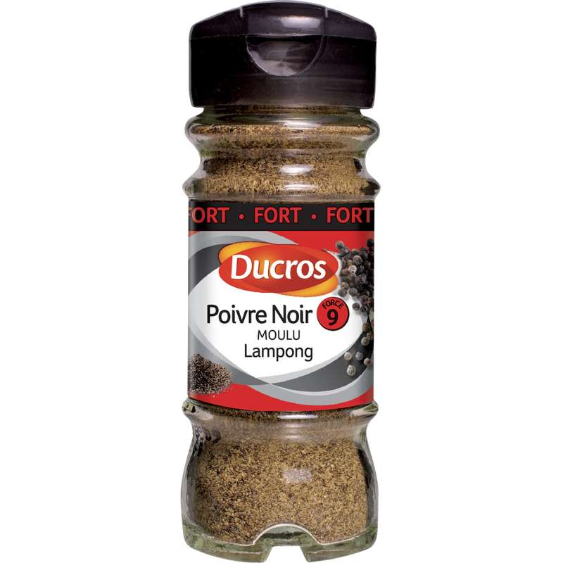 Poivre noir moulu fort n°9, Ducros (35 g)