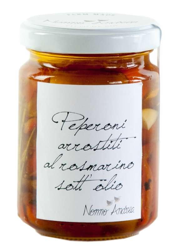 Poivrons grillés à l'huile d'olive et au romarin, Nonno Andrea (140 g)