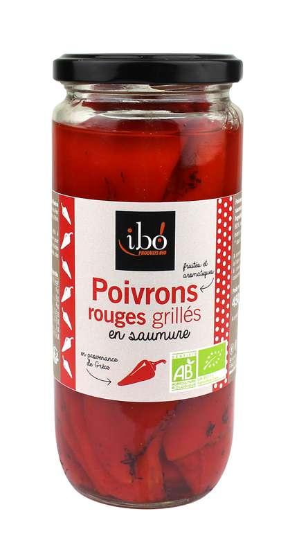 Poivrons rouges grillés en saumure BIO, Ibo (615 g)