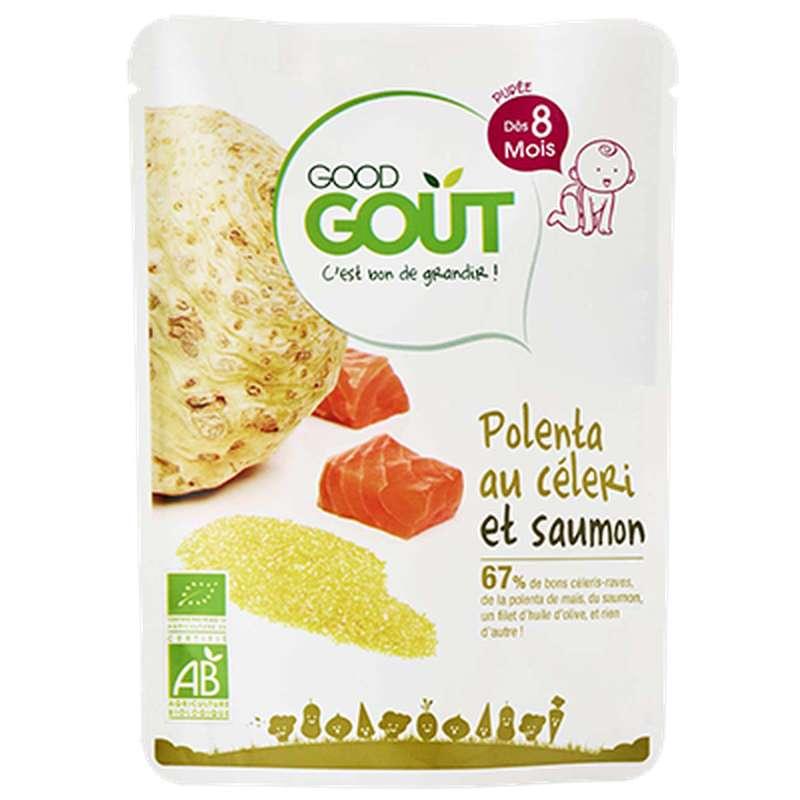 Polenta au céleri et saumon BIO - dès 8 mois, Good Goût (190 g)