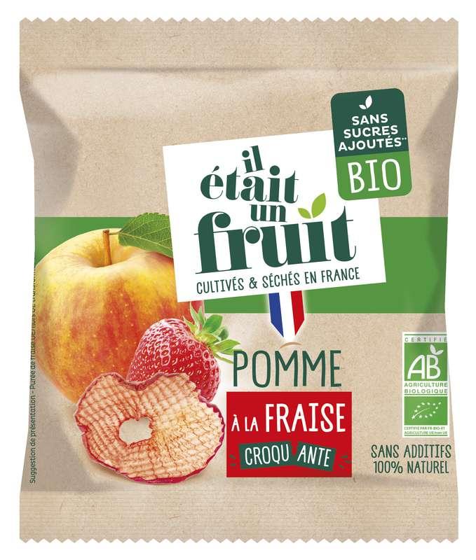 Pomme Croquante à la fraise BIO, Il Etait Un Fruit (15 g)