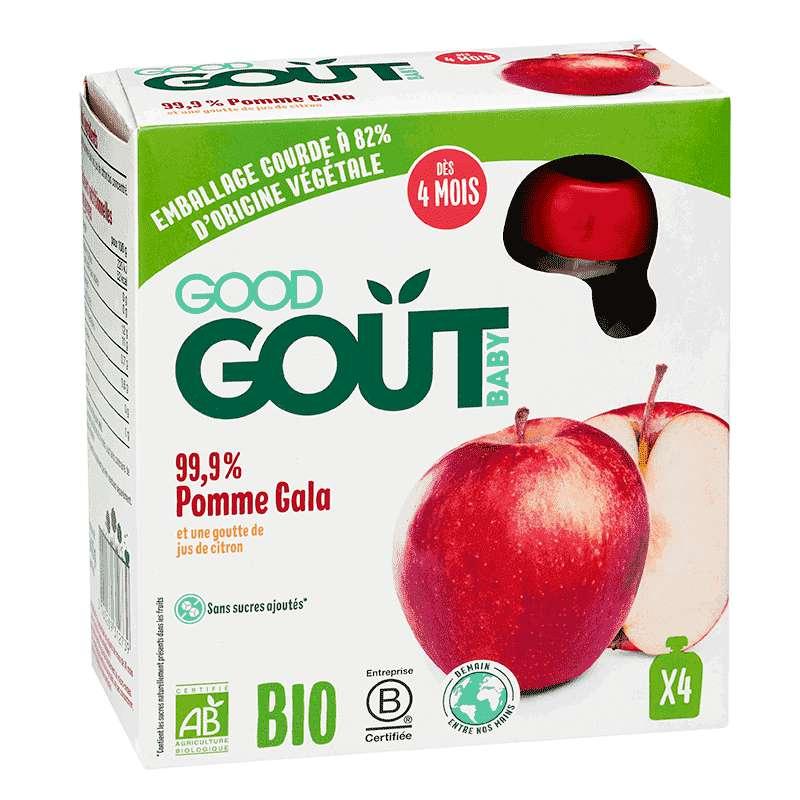 Pomme Gala BIO - dès 4 mois, Good Goût (4 x 85 g)