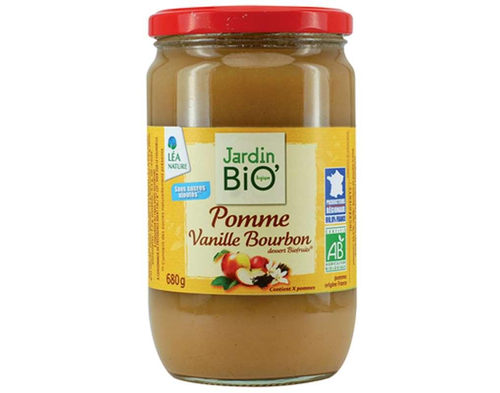 Compote pomme vanille BIO, Jardin Bio (680 g)