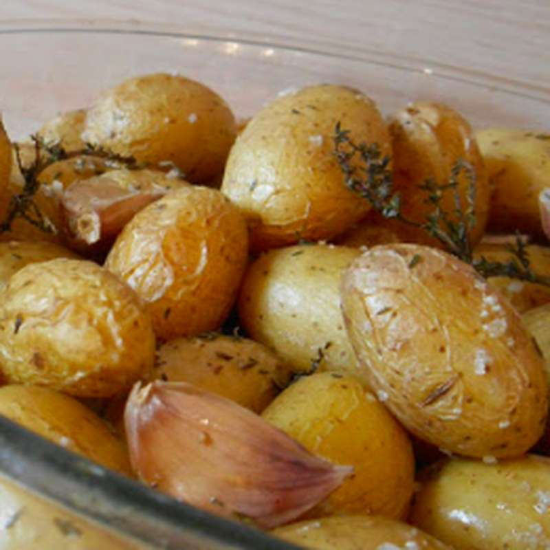 Pommes de terre grenaille rôties au guanciale (270 g)
