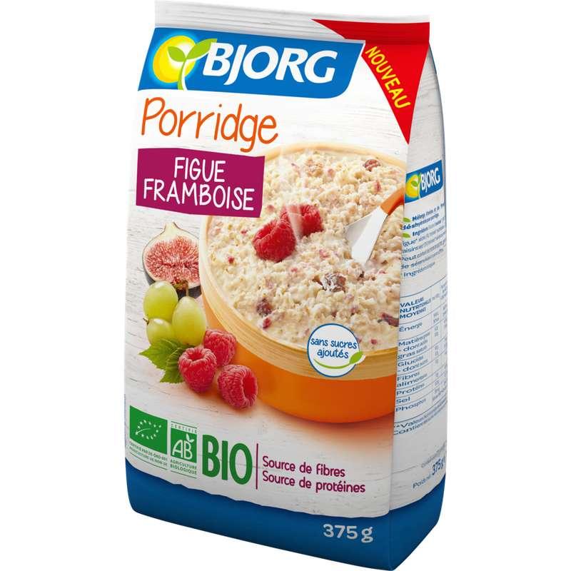 Porridge figue framboise BIO, Bjorg (375 g)