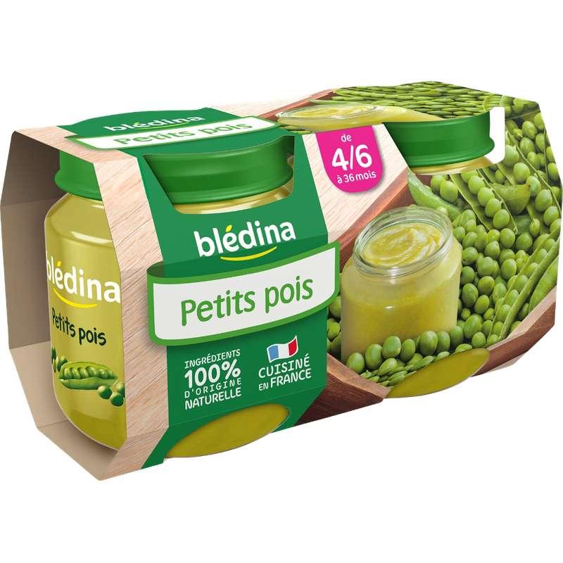 Petit pot petits pois - dès 4/6 mois, Blédina (2 x 130 g)