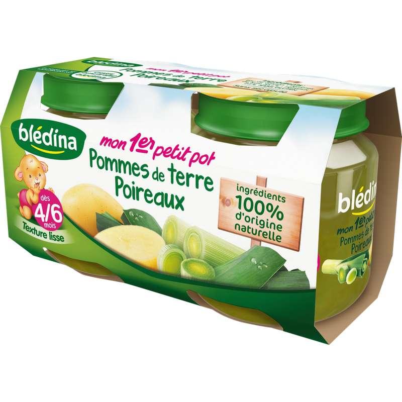Mon 1er petit pot pomme de terre, poireaux - dès 4/6 mois, Blédina (2 x 130 g)