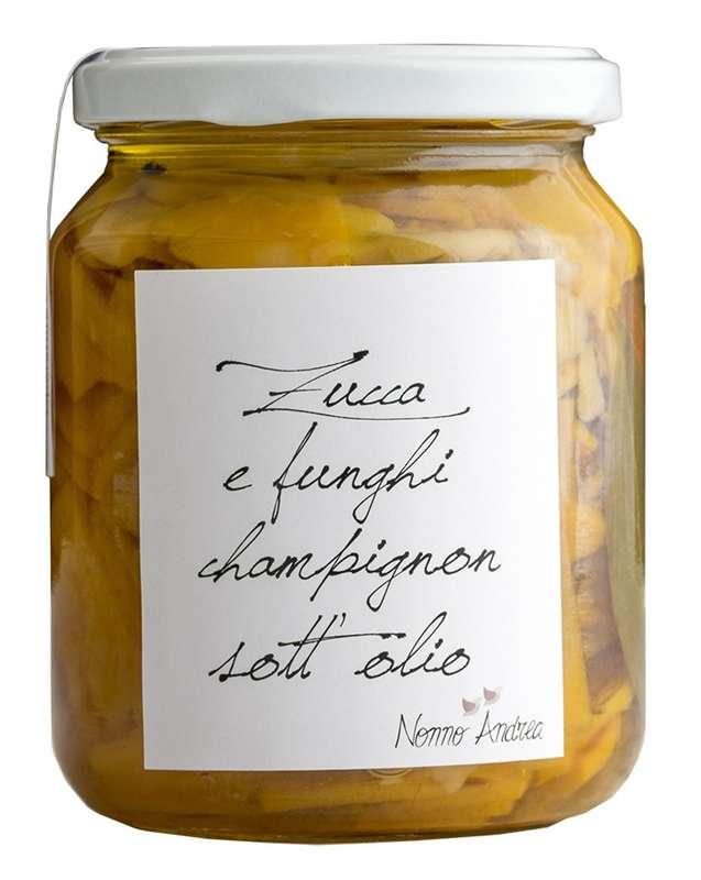 Potiron et champignons à l'huile BIO, Nonno Andrea (390 g)