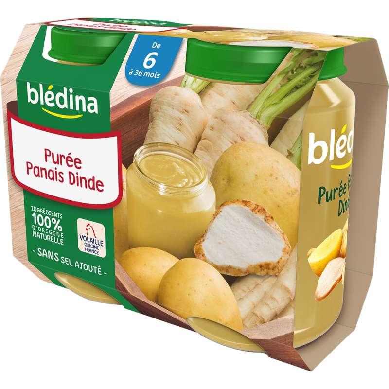 Petit pot purée panais, dinde - dès 6 mois, Blédina (2 x 200 g)