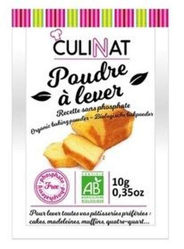 Poudre à lever sans phosphate BIO, Culinat (8 x 10 g)