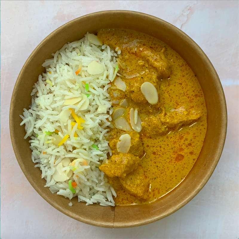 Poulet fermier Korma, riz basmati (300 g)