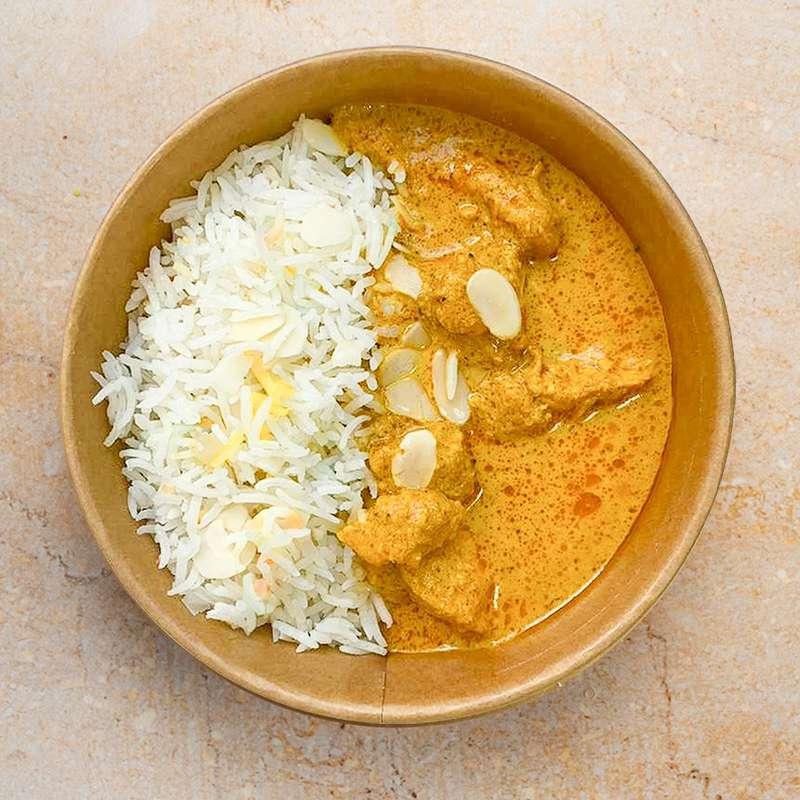 Poulet fermier Korma, riz basmati (350 g)