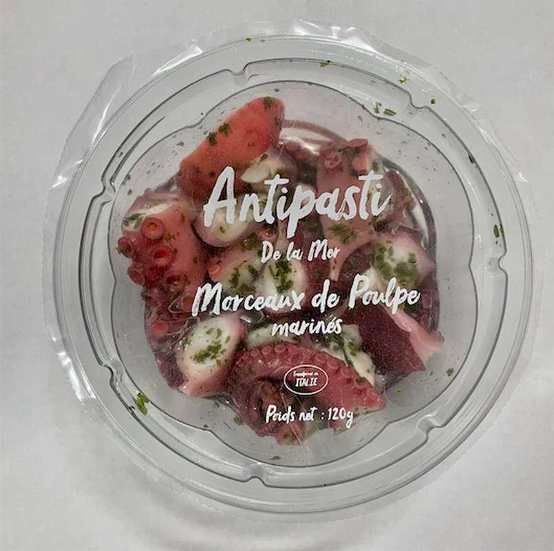 Poulpe mariné extra tendre à l'huile, Antipasti Bluver (120 g)