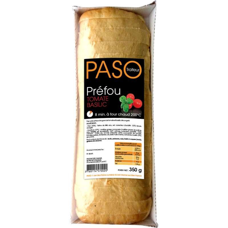 Préfou aux tomates et au basilic pré tranché, Paso (350 g)