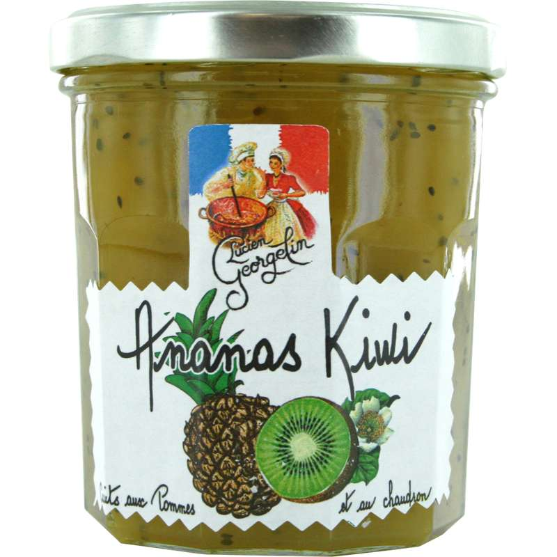 Confiture ananas kiwi recette au chaudron, Lucien Georgelin (320 g)