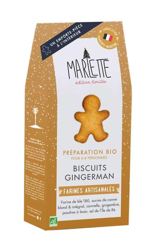 "Préparation ""Biscuit Gingerman"" BIO, Marlette / édition Noël (320 g)"