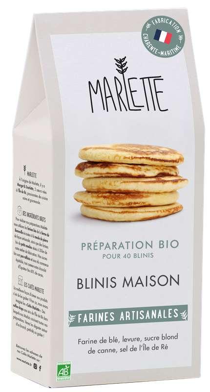 "Préparation ""Blinis maison"" Bio, Marlette (250 g)"