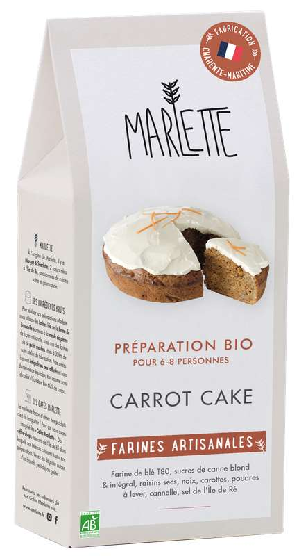 "Préparation ""Carrot cake"" BIO, Marlette (355 g)"