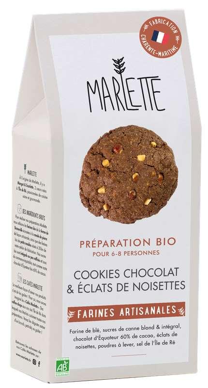 """Préparation """"Cookies au chocolat & éclats de noisette"""" BIO, Marlette (320 g)"""