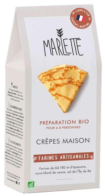 """Préparation """"Crêpes maison"""" Bio, Marlette (350 g)"""