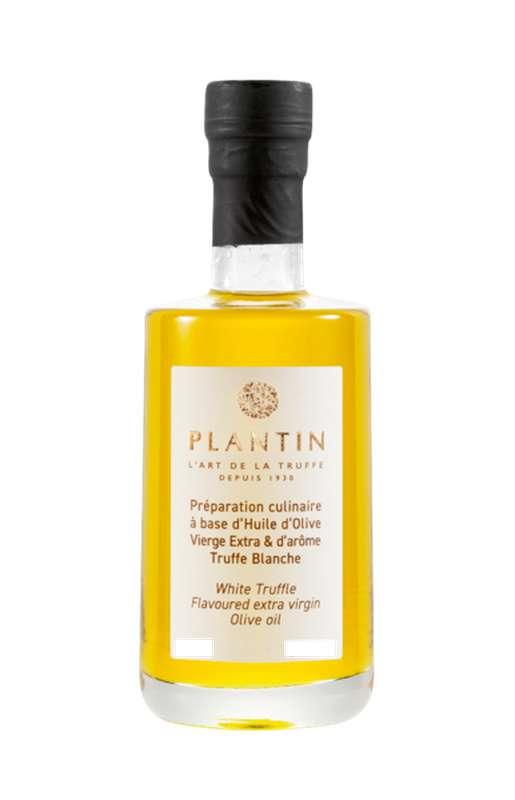 Préparation culinaire à base d'huile d'olive vierge extra et d'arôme truffe blanche, Plantin (25 cl)