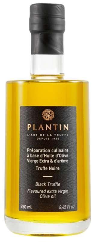 Préparation culinaire à base d'huile d'olive vierge extra et d'arôme truffe noire, Plantin (25 cl)