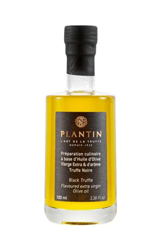 Préparation culinaire à base d'huile d'olive vierge extra et d'arôme truffe noire, Plantin (10 cl)