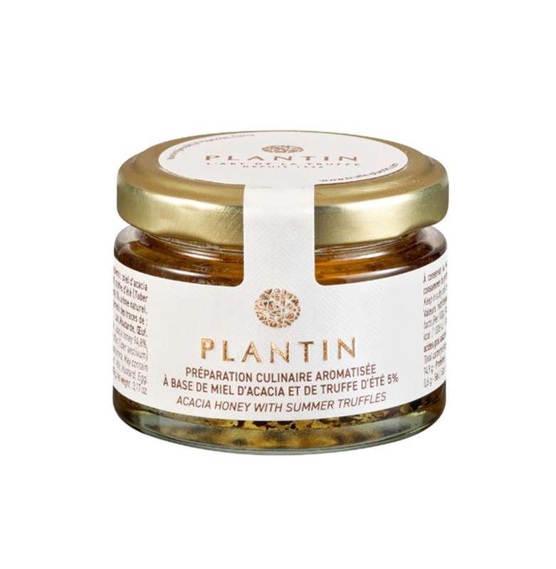 Préparation culinaire aromatisée à base de miel d'acacia et de truffe d'été 5%, Plantin (50 g)