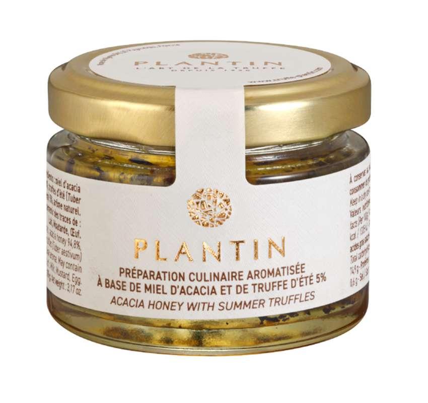 Préparation culinaire aromatisée à base de miel d'acacia et de truffe d'été 5%, Plantin (90 g)